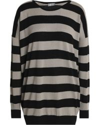 Vince - Striped Wool And Cashmere-blend Jumper - Lyst