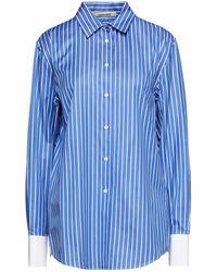 Roberto Cavalli Striped Cotton-twill Shirt - Blue