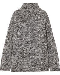 Co. Oversized Mélange Merino Wool Turtleneck Jumper - Grey