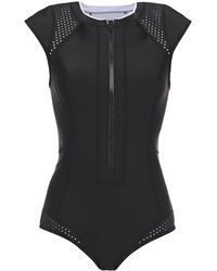 Duskii Perforated Neoprene Swimsuit Black