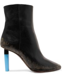 Vetements - 90mm Highlighter Leather Ankle Boots - Lyst