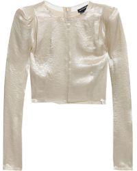 Ann Demeulemeester Long Sleeved Top Platinum - Multicolour