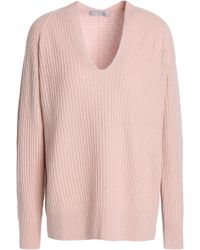 Vince - Ribbed Wool And Cashmere-blend Sweater - Lyst