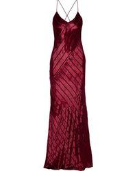 Michelle Mason Open-back Devoré-velvet Gown - Rot