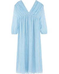 M.i.h Jeans - Petaluma Striped Silk-georgette Midi Dress - Lyst