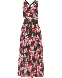 Marc Jacobs - Belted Printed Silk-georgette Wrap Dress - Lyst