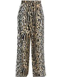 Valentino - Jacquard Wide-leg Pants - Lyst