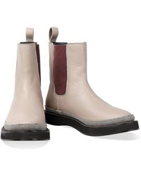 Brunello Cucinelli - Embellished Leather Boots - Lyst
