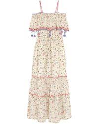 Anjuna Violante Crochet-trimmed Printed Cotton-voile Maxi Dress Multicolour