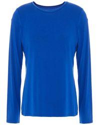 DKNY Stretch-jersey Top Bright Blue