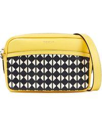 Serapian Mosaico Leather Shoulder Bag - Yellow