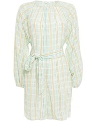 Samsøe & Samsøe Samsøe Φ Samsøe Kaia Fil Coupé Printed Crepe De Chine Playsuit Mint - Multicolour