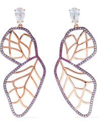 Noir Jewelry - Rose Gold-tone Crystal Earrings - Lyst