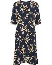 Ganni - Floral-print Crepe Dress - Lyst