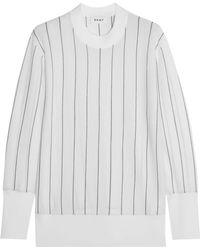 DKNY - Striped Merino Wool Jumper - Lyst