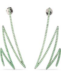 Khai Khai - Oxidized 18-karat Gold Tsavorite Earrings - Lyst