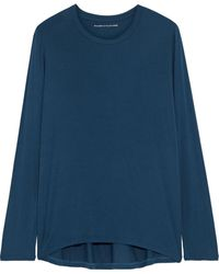 Majestic Filatures - Stretch-jersey Top Navy - Lyst