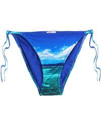 Orlebar Brown - Printed Low-rise Bikini Briefs Bright Blue - Lyst