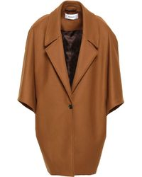 Chalayan Wool-blend Felt Coat Camel - Multicolour