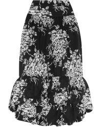 Sonia Rykiel - Tiered Floral-print Cotton Midi Skirt - Lyst