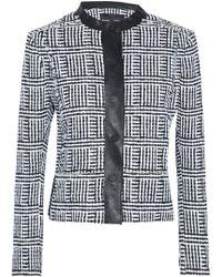 Proenza Schouler - Faux Leather-trimmed Tweed Jacket - Lyst