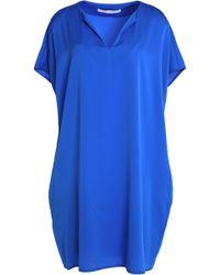Diane von Furstenberg - Kora Silk-blend Mini Dress Bright Blue - Lyst