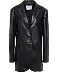 DROMe Leather Blazer - Black