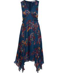 W118 by Walter Baker Floral Sleeveless A-line Dress - Blue