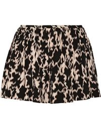 Thakoon - - Addition Printed Stretch Silk-blend Shorts - Black - Lyst
