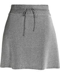 M Missoni - Metallic Wool-blend Mini Skirt - Lyst