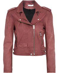 IRO - Washed-leather Biker Jacket - Lyst