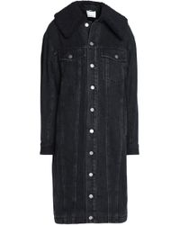 3.1 Phillip Lim - Faux Shearling-trimmed Denim Coat - Lyst
