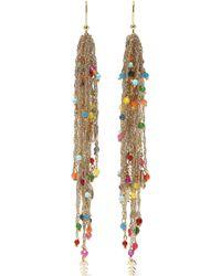 Rosantica Arsella Gold-tone Beaded Earrings Multicolour - Metallic