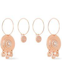 Luv Aj - Woman Rose Gold-tone Crystal Earrings Rose Gold - Lyst