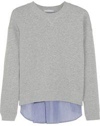 Richard Nicoll - - Panelled Cotton-terry Sweatshirt - Grey - Lyst
