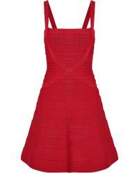 Hervé Léger - Faith Bandage Mini Dress - Lyst