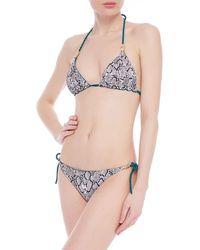 Heidi Klein Reversible Snake-print Triangle Bikini Top Animal Print - Multicolour