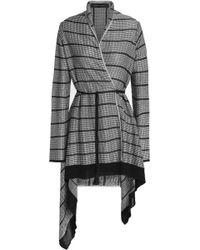 Roland Mouret - Asymmetric Metallic Waffle-knit Jacket - Lyst