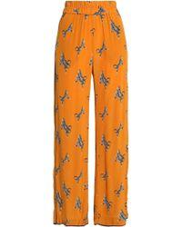 Baum und Pferdgarten - Printed Woven Wide-leg Trousers - Lyst