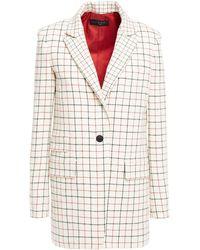 Rag & Bone Checked Wool-blend Blazer - White