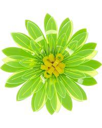 Issa - Dahlia Neon Acrylic Flower Brooch - Lyst