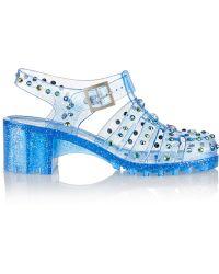 Markus Lupfer - Embellished Cutout Pvc Sandals - Lyst