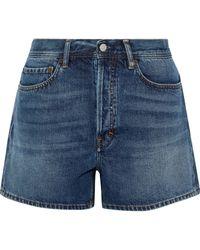 Acne Studios Faded Denim Shorts Mid Denim - Blue
