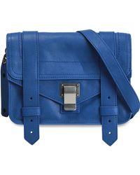 Proenza Schouler - Ps1 Leather Shoulder Bag Royal Blue - Lyst