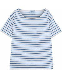 Prada - Striped Cotton-jersey T-shirt - Lyst