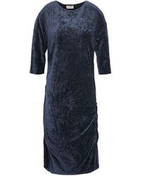 By Malene Birger Ruched Chenille Dress Indigo - Blue