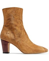 IRO | Onasis Sliced Suede Ankle Boots Light Brown | Lyst