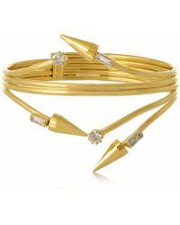 Vickisarge - Fallen Angel Gold-plated Swarovski Crystal Bracelet - Lyst