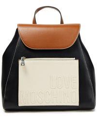 Love Moschino Rucksack aus kunstleder in colour-block-optik - Schwarz