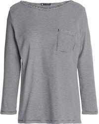 Petit Bateau Striped Cotton-jersey Top Navy - Blue